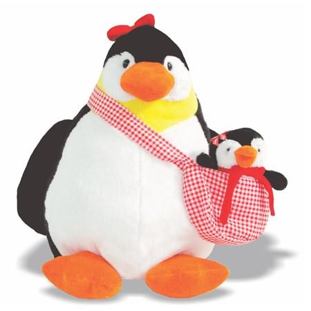 Pelúcia Pinguim com Filhote