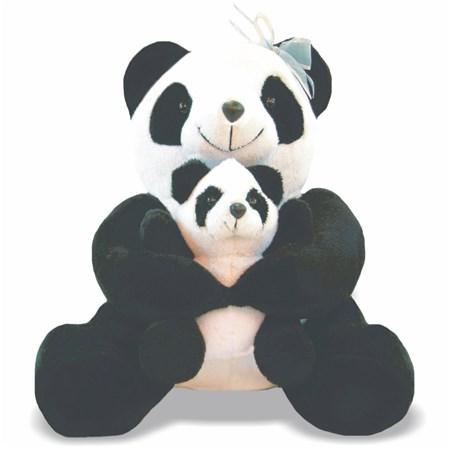 Pelúcia Panda com Filhote