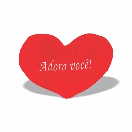Pelúcia Almofada Coração Adoro Você