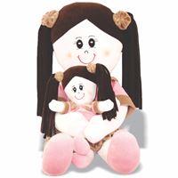Pelúcia Bonecas Mamãe e Filhinha