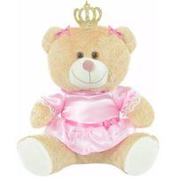Ursa Pelúcia Princesa Coroa Com Vestido - M
