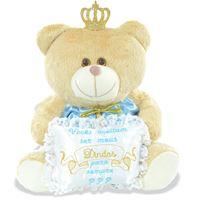 Urso Príncipe - Para Convite Padrinhos Batizado