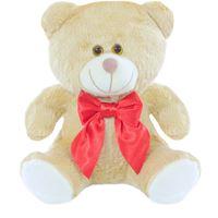 Urso Pelúcia Com Laço - Para Nicho - Decoração - P