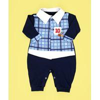 Macacão Longo Sport Bebê Menino Azul Marinho - G