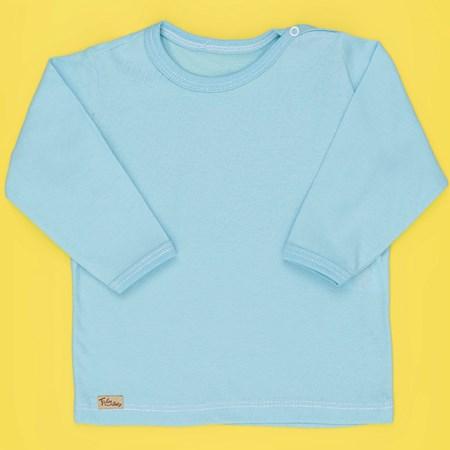 Camiseta de Bebê Manga Longa Classic Azul - M