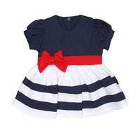 Vestido Bebê Menina Chic Marinho - G
