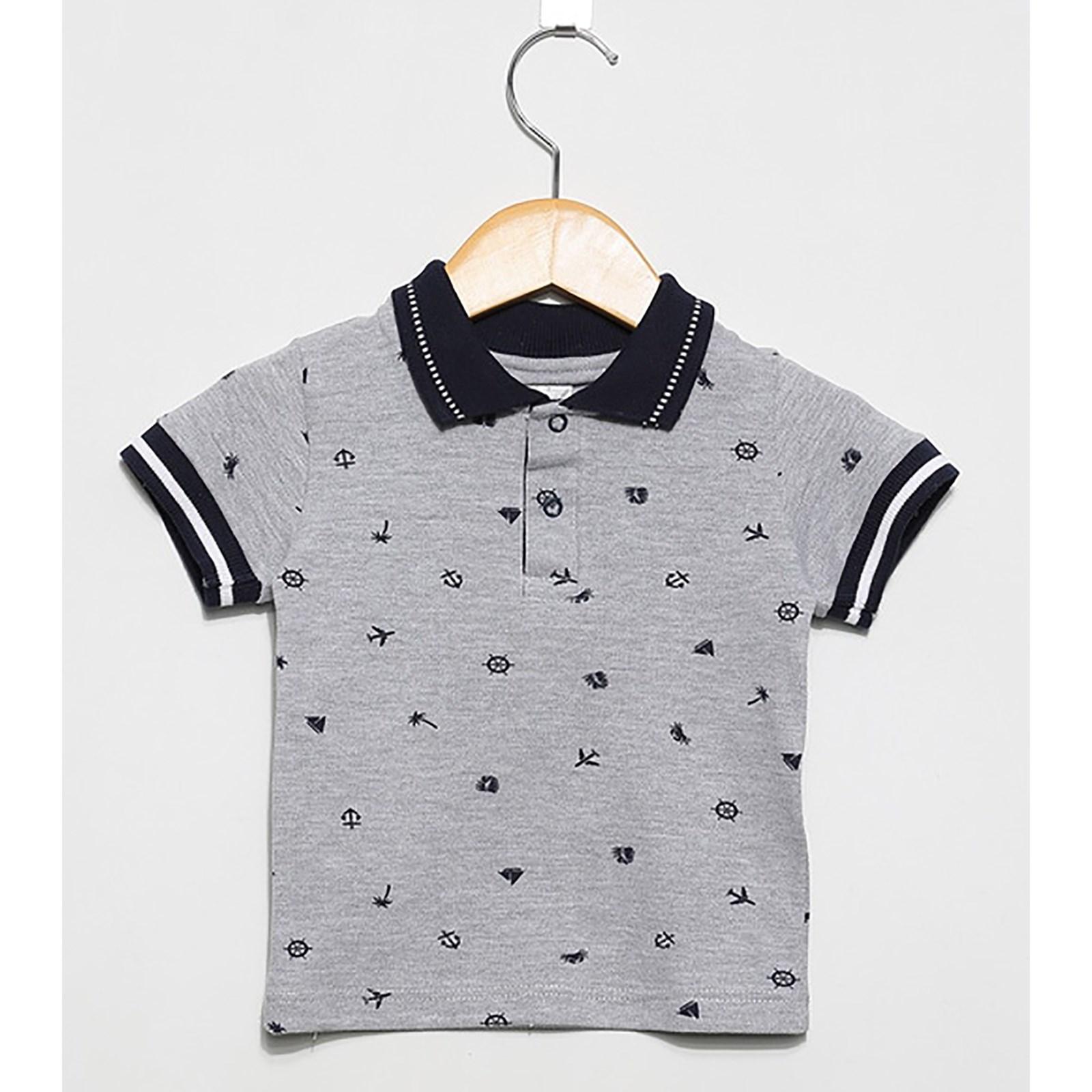 ed6c6f967 Camisa Polo Marinheiro Cinza - Tamanho P