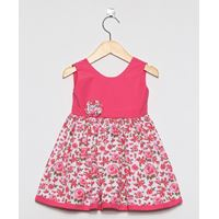 Vestido Rebeca Floral Pink - Tamanho G