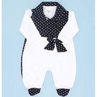 Macacão Manga Longa Linda Li Branco Para Bebê Menina - M