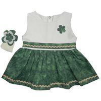 Vestido Manu Verde c/ Palha - Tamanho M