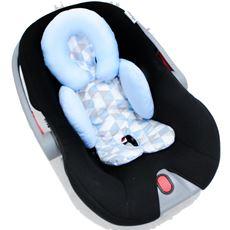 Apoio De Corpo Bebê Reversivel Para Carrinho e Bebe Conforto Azul