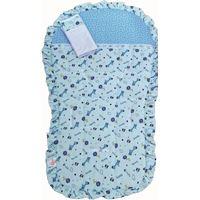 Capa de Carrinho de Malha c/ Fronha - Azul
