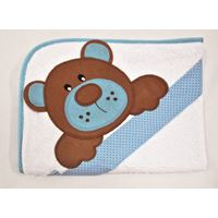 Toalha de Banho Urso Azul