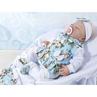 Saída de Maternidade Sofia Floral Azul 3 peças