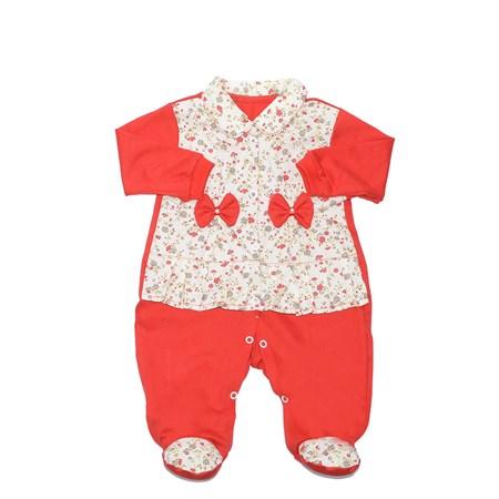 Macacão Manga Longa Bebê Menina Sofia Vermelho