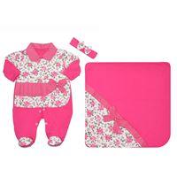 Saída de Maternidade Alice Pink com Floral 3 peças