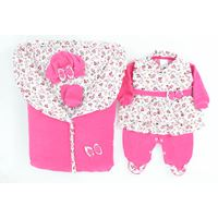 Saída de Maternidade Pequena Babi - 5 Peças - Pink - Plush