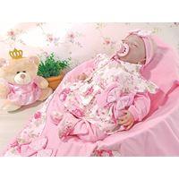 Saída de Maternidade Catarina Floral Rosa Menina 4 Peças