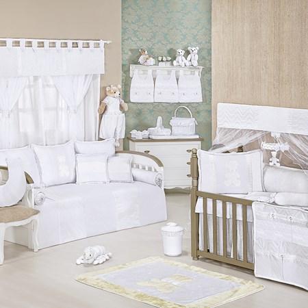 Quarto de Bebê Completo Classic Branco Sem Enxoval Cama Babá 29 peças
