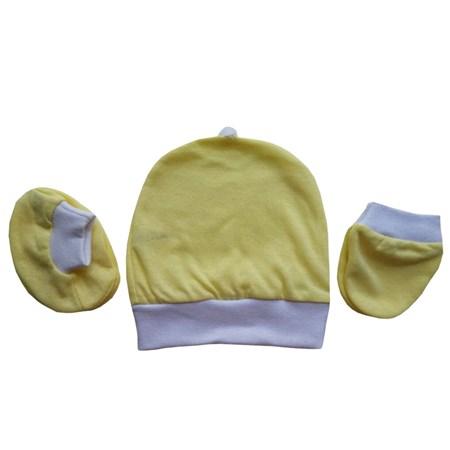Kit Touca, Luvinha e Sapatinho Amarelo