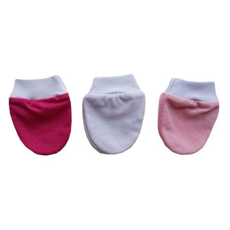 Kit Com 3 Pares de Luvinha - Branco, Pink e Rosa