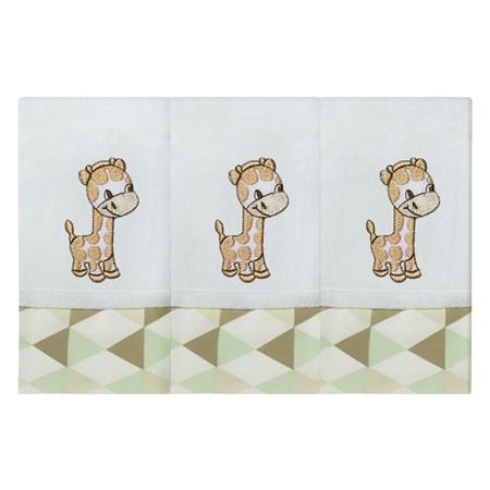 Fralda de Boca 03 Peças - Floresta Girafa