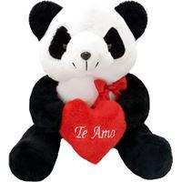 Pelúcia - Urso Panda com Coração