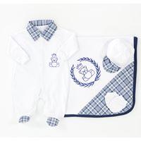 Saída de Maternidade Príncipe Ursinho 4 Peças Branco