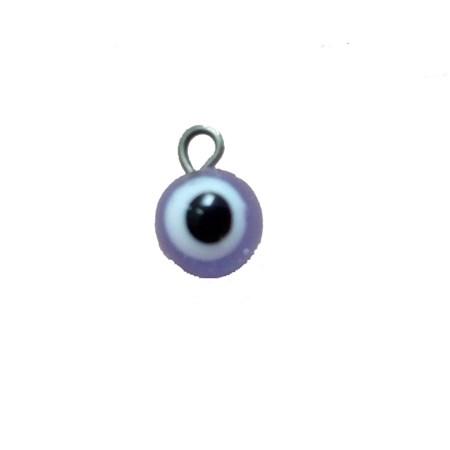 Pingente olho grego pequeno lilás