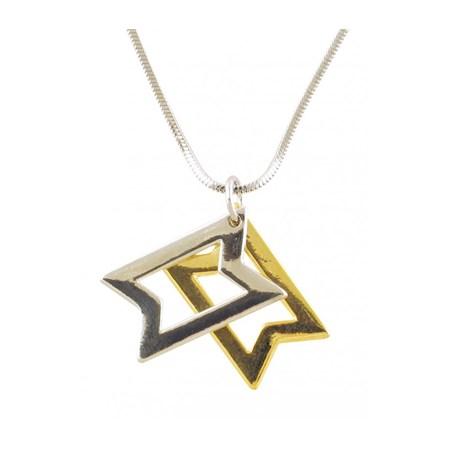 Corrente e pingente Estrela de David móvel