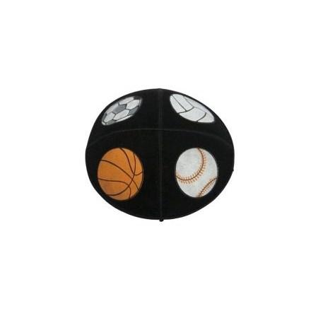 Kipá Cinza de camurça com bolas