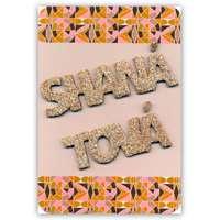 Cartão Shaná Tová em alto relevo