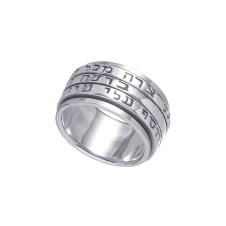 Anel de prata giratório 3 fases - Tamanho 13