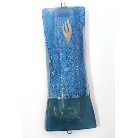 Mezuzá artesanal de vidro (vidro)
