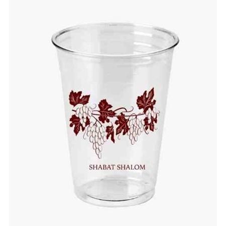 Copo descartável de plástico Shabat Shalom