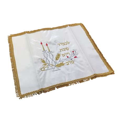 Cobertura de chalá castiçal com bordado - Dourado