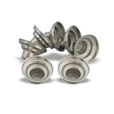 Suporte de alumínio para castiçal - Dourado
