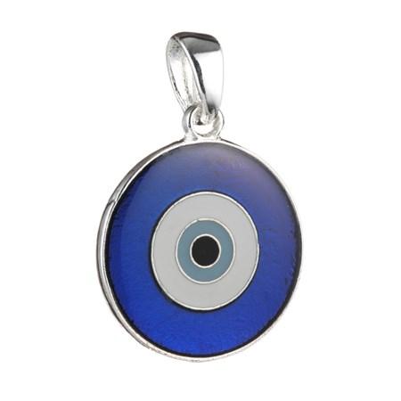 Pingente Olho Grego Vitral - Tamanho 2 cm. de diâmetro (Vermelho)