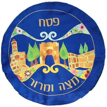 Pano para Matsá de seda Jerusalém