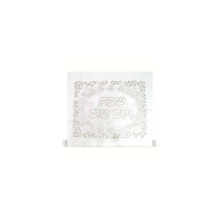 Toalha de mesa bordada cachos de uva e Flores - Branca 1,40x3,50