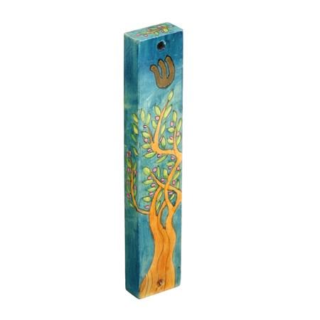 Mezuzá madeira sete espécies tamareira (EMANUEL)