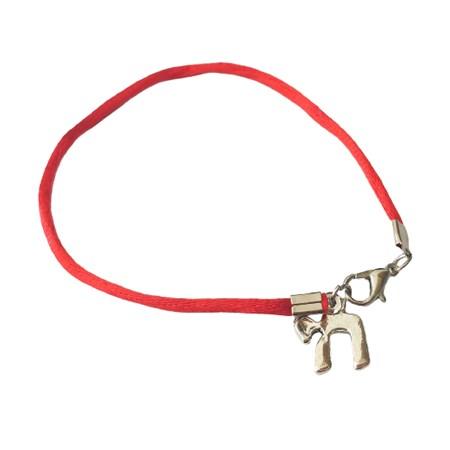 Pulseira fio vermelho com pingente Chai
