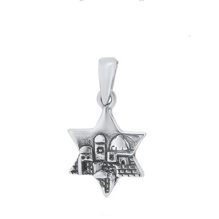Pingente estrela de David de prata Jerusalém