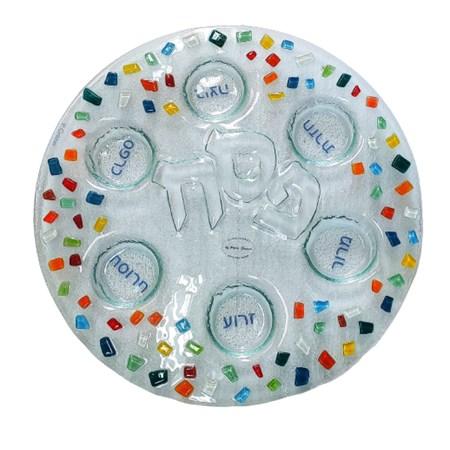 Keará de vidro mosaico colorido