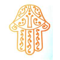 Adesivo Hamsa vazada decorada - Preto