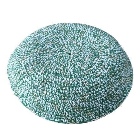 kipá crochê com ponto médio verde camuflado