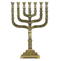 Menorá dourada decorada grande