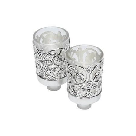 Porta copo de vidro flores (25161)