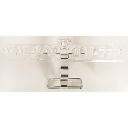 Chanukiá de cristal 17 cm