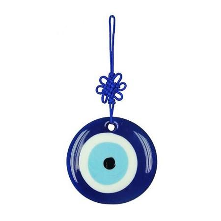 Olho grego de vidro - Tamanho 8 cm. de diâmetro